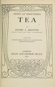 Cover of: Tea | Edith A. Browne