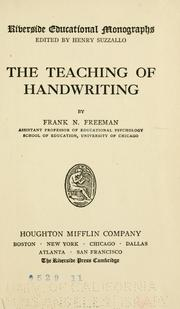 Cover of: The teaching of handwriting