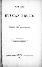 Cover of: Report on Russian fruits |