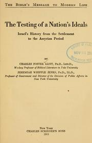 Cover of: The testing of a nation's ideals