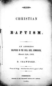 Cover of: Christian baptism