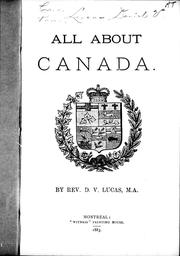 Cover of: All about Canada