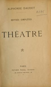 Cover of: Théatre: oeuvres complètes.
