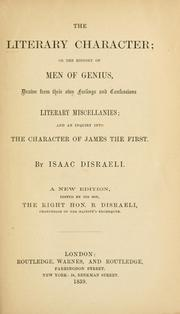 The literary character by Isaac Disraeli