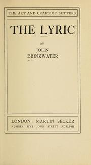 Cover of: The lyric