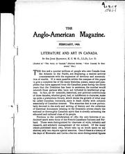 Cover of: Literature and art in Canada |