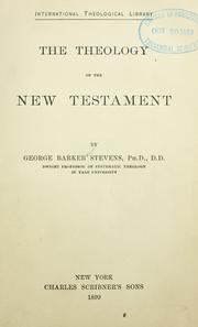 Cover of: The theology of the New Testament