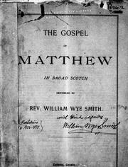 Cover of: The gospel of Matthew in broad Scotch |