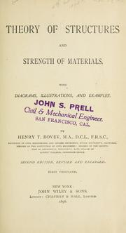 Theory of structures and strength of materials by Bovey, Henry T.