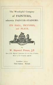 Cover of: The Worshipful Company of Painters