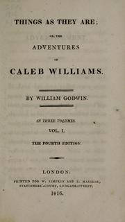 Cover of: Caleb Williams: or, Things as they are