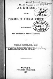 Cover of: Address upon the progress of medical science |