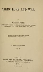 Cover of: Thro' love and war
