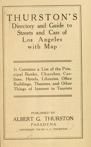 Thurstons directory and guide to streets and cars of Los Angeles