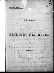 Cover of: Reports on bridging Red River | Fleming, Sandford Sir