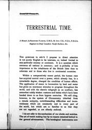 Cover of: Terrestrial time | Fleming, Sandford Sir