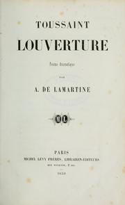 Cover of: Toussaint Louverture, poëme dramatique