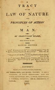 Cover of: A Tract on the law of nature and priciples of action in man