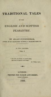 Cover of: Traditional tales of the English and Scottish peasantry