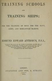 Cover of: Training schools and training ships