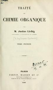 Cover of: Traité de chimie organique