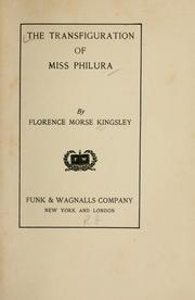 Cover of: The transfiguration of Miss Philura
