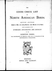 Cover of: The Coues check list of North American birds