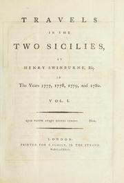 Travels in the two Sicilies by Swinburne, Henry