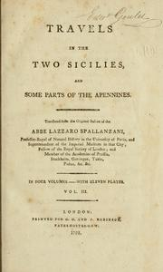 Cover of: Travels in the Two Sicilies, and some parts of the Apennines