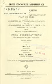 Cover of: Travel and Tourism Partnership Act