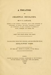 Cover of: A treatise of celestial mechanics: Part the first - book the first[-the second]