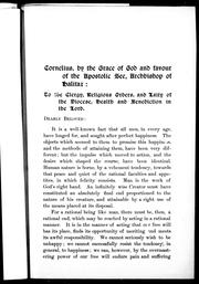 Cover of: [ Pastoral letter addressed to the clergy, religious orders and laity of the Diocese of Halifax] | Catholic Church. Archdiocese of Halifax. Archbishop (1882-1906 : O