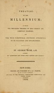 Cover of: A treatise on the millennium