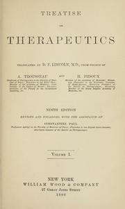 Cover of: Treatise on therapeutics