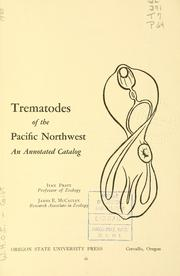 Cover of: Trematodes of the Pacific Northwest