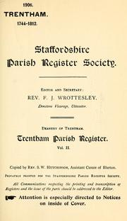 Cover of: Trentham parish register. by Trentham, Eng. (Parish)