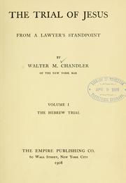 Cover of: trial of Jesus from a lawyer