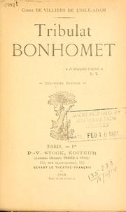 Cover of: Tribulat Bonhomet