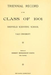 Cover of: Triennial record of the Class of 1901, Sheffield Scientific School, Yale University |