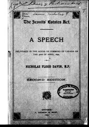 Cover of: The Jesuits' Estates Act