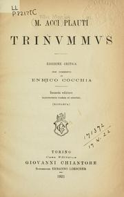 Cover of: Trinummus