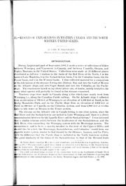 Cover of: Results of explorations in western Canada and the northwestern United States