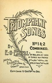 Cover of: Triumphant songs. | E. O. Excell