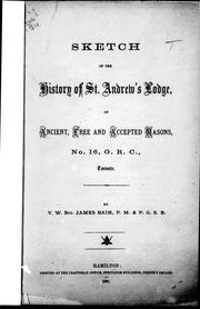Cover of: Sketch of the history of St. Andrew