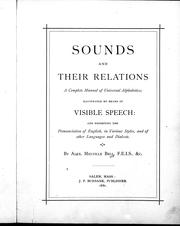 Cover of: Sounds and their relations