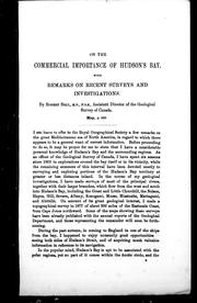 Cover of: On the commercial importance of Hudson