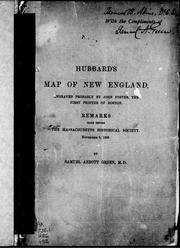 Cover of: Hubbard's map of New England
