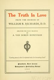 Cover of: truth in love | William Rogers Richards