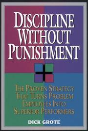 Cover of: Discipline without punishment