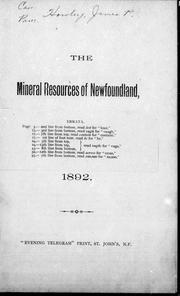 The mineral resources of Newfoundland